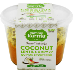 Photo of Yummy Karma Coconut Lentil Curry Quinoa Brown Rice 350g