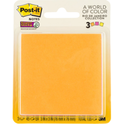 Photo of Post-It® Super Sticky Notes, 3321-Ssau, 76mm X 76mm, Rio De Janeiro Collection