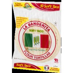 Photo of La Banderita Soft Taco Large Flour Tortillas - 10 Ct