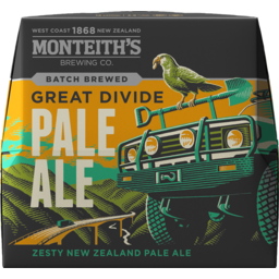 Photo of Monteiths Beer Great Divide Pale Ale Bottle 12 Pack