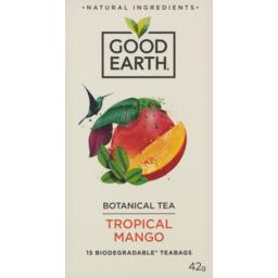Photo of Good Earth Tropical Mango Botanical Tea 15 Pack 42g