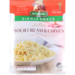 Photo of San Remo La Pasta Sour Cream & Chives Single Snack 80g