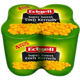 Photo of Edgell Super Sweet Corn Kernels Value Pack 4 X 125gm