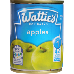 Photo of Wattie's Stage 1 Baby Food Apples 4+ Months 120g