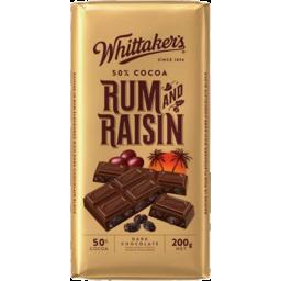 Photo of Whittaker's 50% Rum & Raisin Block 200gm
