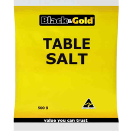 Photo of Black & Gold Table Salt Bag 500gm
