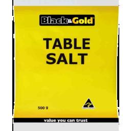 Photo of Black & Gold Table Salt Bag 500gm