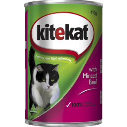 Photo of Kitekat Minced Beef Can 410gm