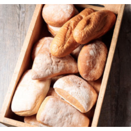 Photo of Luxe Bakery Rustic Square Roll (4 Pack)