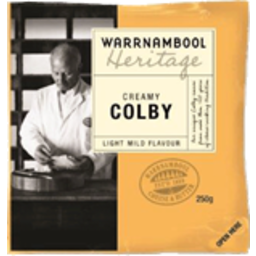 Photo of Warrnambool Cheese Colby Heritage 250g