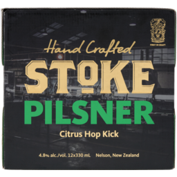 Photo of Stoke Pilsner Citrus Hop Kick 330ml Bottles 12 pack