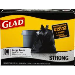 Photo of Glad Flip Back Tie Black Garbage Bags - 30 Gal