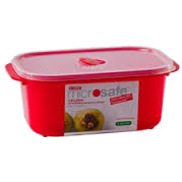 Photo of Decor Microwave Safe Container Oblong Red 900ml