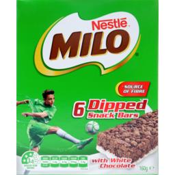 Photo of Milo Snack Bars With Milk 6pk 160gm
