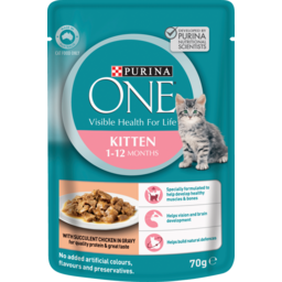 Photo of Purina One Kitten 1-12 Months With Succulent Chicken 70g