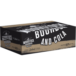 Photo of Woodstock Bourbon & Cola 8% 375ml 24 Pack