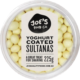 Photo of JC's Yoghurt Coated Sultanas 225gm