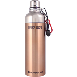 Photo of Wonderchef Duo Bot Stainless Steel Water Bottle 1000 ml (Cooper Finish)