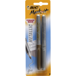 Photo of Bic Mark-It Metallic Silver & Gold 2pk