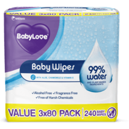 Photo of Babylove Wipes Baby Wtr 240s