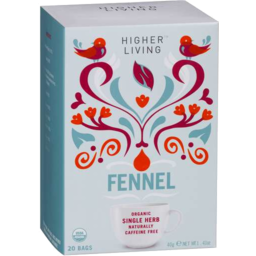 Photo of Higher Living Organic Fennel Tea Bags 20pk