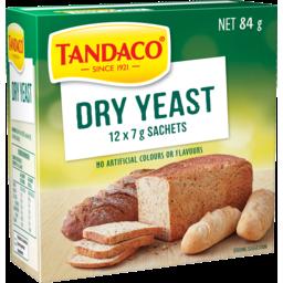 Photo of Tandaco® Dry Yeast 12 X 7g Sachets 84g