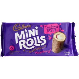 Photo of Cadbury Mini Rolls Raspberry 5 Pack
