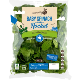 Photo of Community Co Baby Spinach & Rocket 120g
