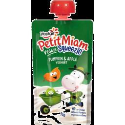 Photo of Yoplait Petit Miam Yoghurt Veggie Squeezie Pouch Pumpkin And Apple 70gm
