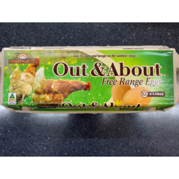 Photo of Out & About Free Range Eggs 12pk 700gm