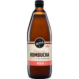 Photo of Remedy Organic Kombucha Peach 750ml 750ml