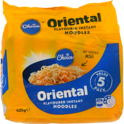 Photo of Choice Instant Noodles Oriental 5 Pack