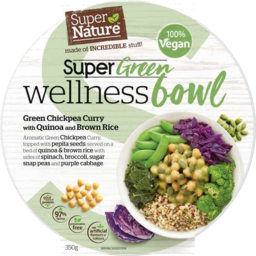 Photo of Super Nature Super Green Wellness Bowl – Green Chickpea Curry With Quinoa And Brown Rice 350gm