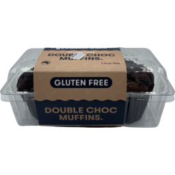 Photo of Good Bake Muffins Dark Chocolate Gluten Free 2pk 160gm