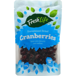 Photo of Fresh Life Sweetened Dried Cranberries 150g