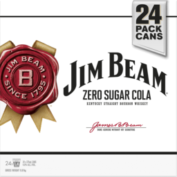 Photo of Jim Beam White & Zero Sugar Cola Cube 375ml 24 Pack
