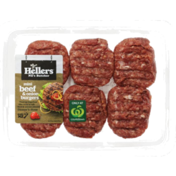 Photo of Hellers Mini Beef & Onion Burgers 6 Pack