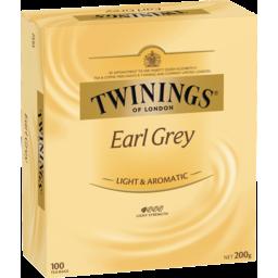 Photo of Twinings Tea Bags Earl Grey 100 Pack 200g