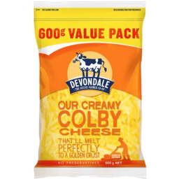 Photo of Devondale Colby Shredded Cheese 600gm
