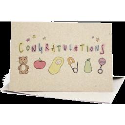 Photo of Deer Daisy Card - Baby Congratulations