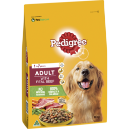 Photo of Pedigree Dry Dog Food Real Beef 8kg Bag