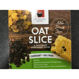 Photo of All Natural Bakery Oat Slice Currant & Sultana 240g 6 Pack