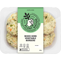 Photo of Slapes Mixed Herb Vegetable Burger 450g