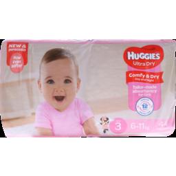 Photo of Huggies Ultra Dry Nappies Crawler Girls 44pk