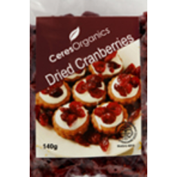 Photo of Cranberries - Dried 140g