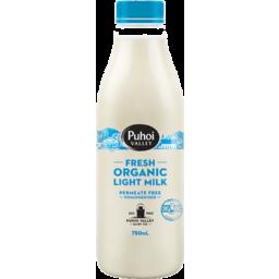 Photo of Puhoi Valley Organic Milk Light 750ml