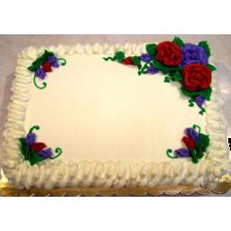 Photo of Yellow /Vanilla 1/2 Sheet Cake