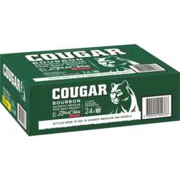 Photo of Cougar Bourbon & Zero Cola Cans