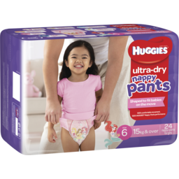 Photo of Huggies Ultra Dry Nappy Pants, Girls, Size 6 Junior (15+Kg), 24 Nappy Pants