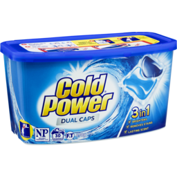 Photo of Cold Power Laundry Detergent Dual Capsules 30 Pack